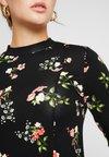 Dorothy Perkins - WINTER FLORAL PRINT HIGH NECK SWING - Jerseykjoler - black