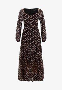 Dorothy Perkins - TIER HEM LONG SLEEVE FLORAL - Robe longue - black - 5
