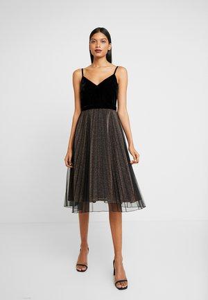 CAMI BODICE SPARKLE TULLE MIDI DRESS - Koktejlové šaty/ šaty na párty - black