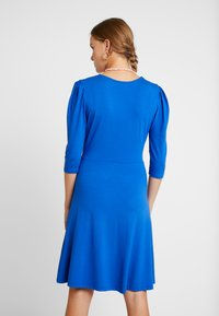 Dorothy Perkins - COBALT PUFF SLEEVE WRAP DRESS - Jersey dress - cobalt - 2