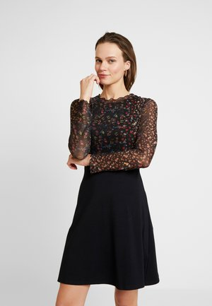 LONG SLEEVE FLORAL  - Robe en jersey - black