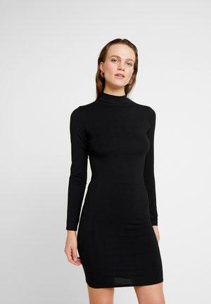 PLAIN BODYCON - Pouzdrové šaty - black