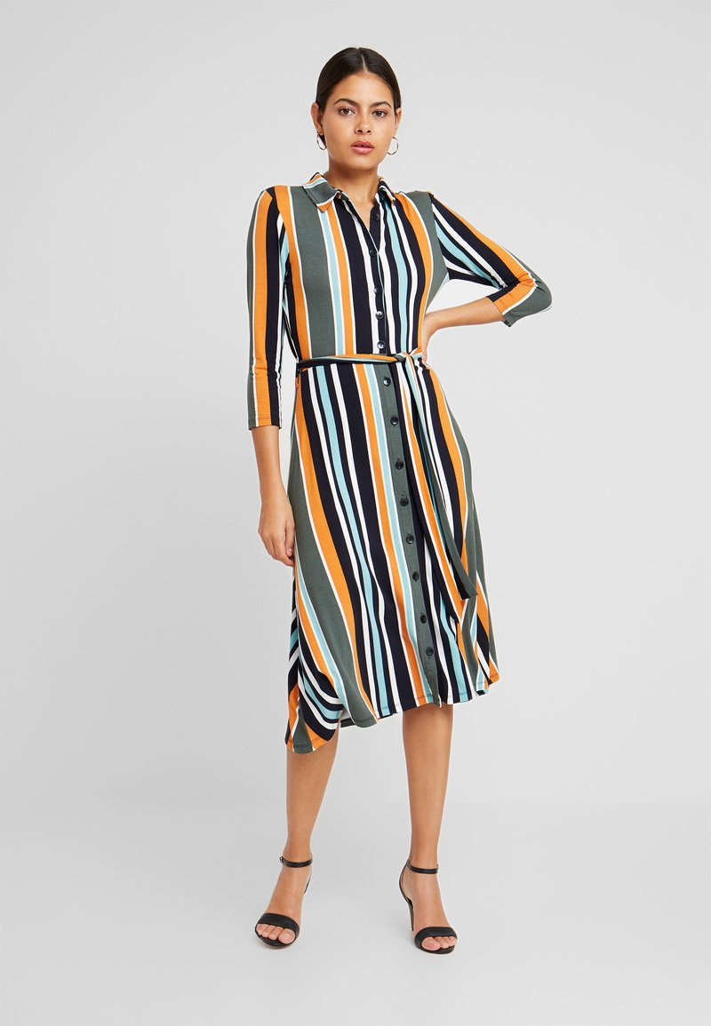 Dorothy Perkins - STRIPE DRESS - Jerseykjoler - black