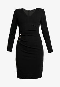 Dorothy Perkins - BUTTON DETAIL BODYCON - Etuikleid - black - 5