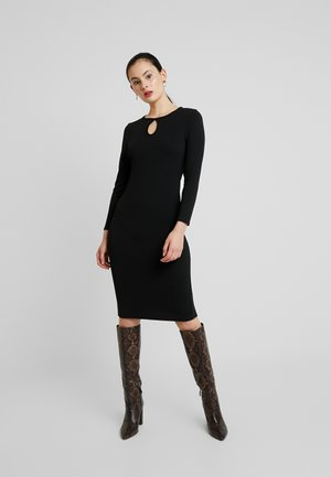 LONG SLEEVE KEYHOLE BODYCON - Etuikjole - black