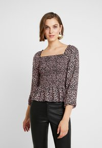 Dorothy Perkins - LOLA SKYE SHIRRED SQUARE NECK - Blusa - pink - 0
