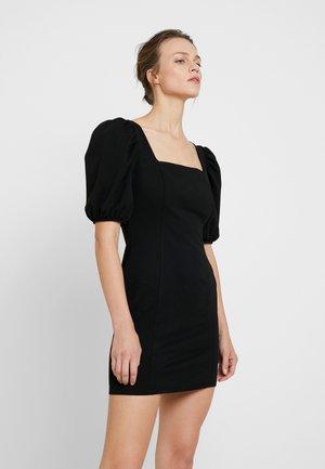 LOLA SKYE PUFF SLEEVE DRESS - Pouzdrové šaty - black