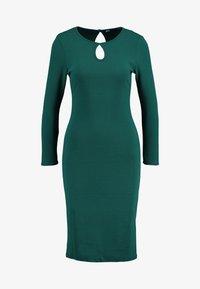 Dorothy Perkins - LONG SLEEVE KEYHOLE BODYCON - Pouzdrové šaty - green - 5