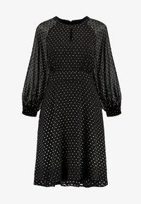 Dorothy Perkins - DOBBY FIT & FLARE - Robe d'été - black - 4