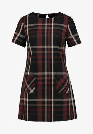 CHECK - Denní šaty - rust