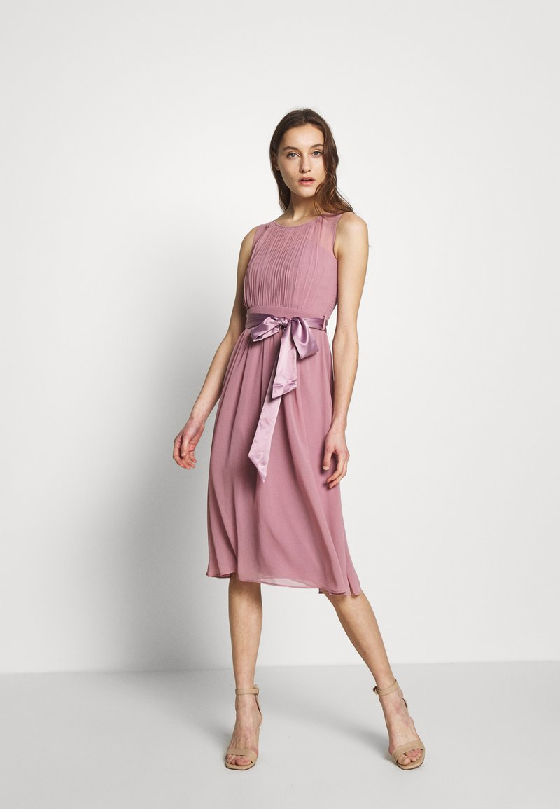 Dorothy Perkins - BETHANY MIDI DRESS - Cocktailkjole - dark rose