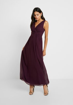 DARCY DRAPE DETAIL MAXI DRESS - Vestido de fiesta - oxblood