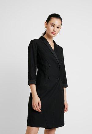 3/4 SLEEVE TUX STYLE DRESS - Pouzdrové šaty - black