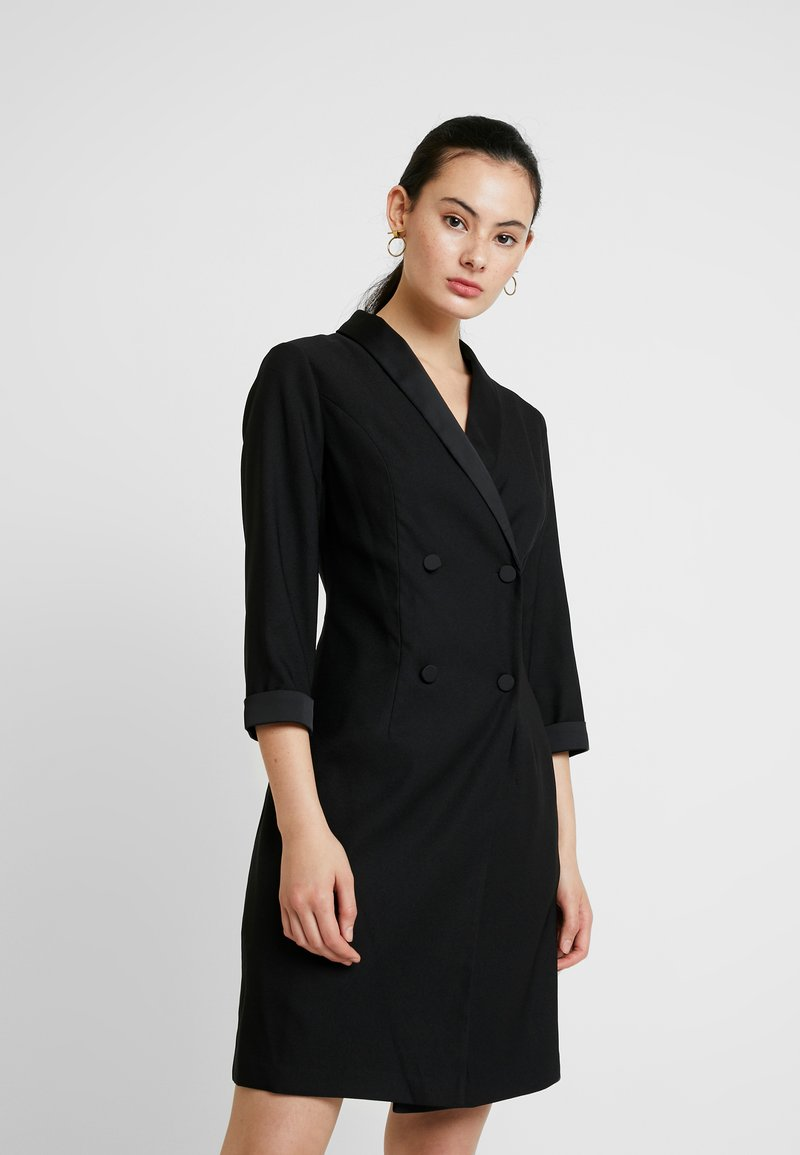 Dorothy Perkins - 3/4 SLEEVE TUX STYLE DRESS - Etuikjoler - black