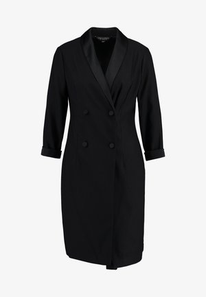 3/4 SLEEVE TUX STYLE DRESS - Robe fourreau - black