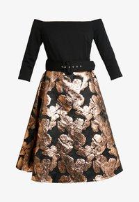 Dorothy Perkins - BARDOT SOLID BODICE BELTED DRESS - Cocktail dress / Party dress - black - 5