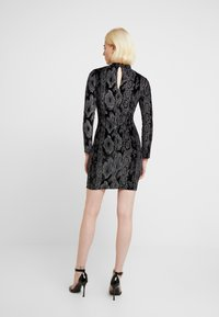 Dorothy Perkins - GLITTER HIGH NECK BODYCON - Pouzdrové šaty - black - 3