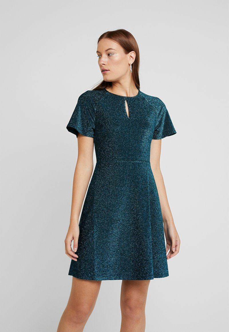 Dorothy Perkins - KEYHOLE FIT AND FLARE - Jerseyjurk - teal