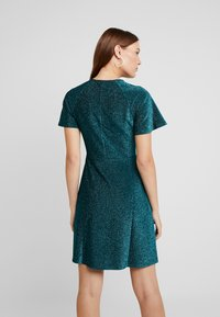 Dorothy Perkins - KEYHOLE FIT AND FLARE - Jerseyjurk - teal - 2