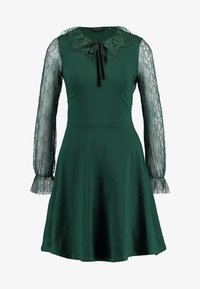 Dorothy Perkins - COLLAR  DRESS - Robe en jersey - dark green - 4