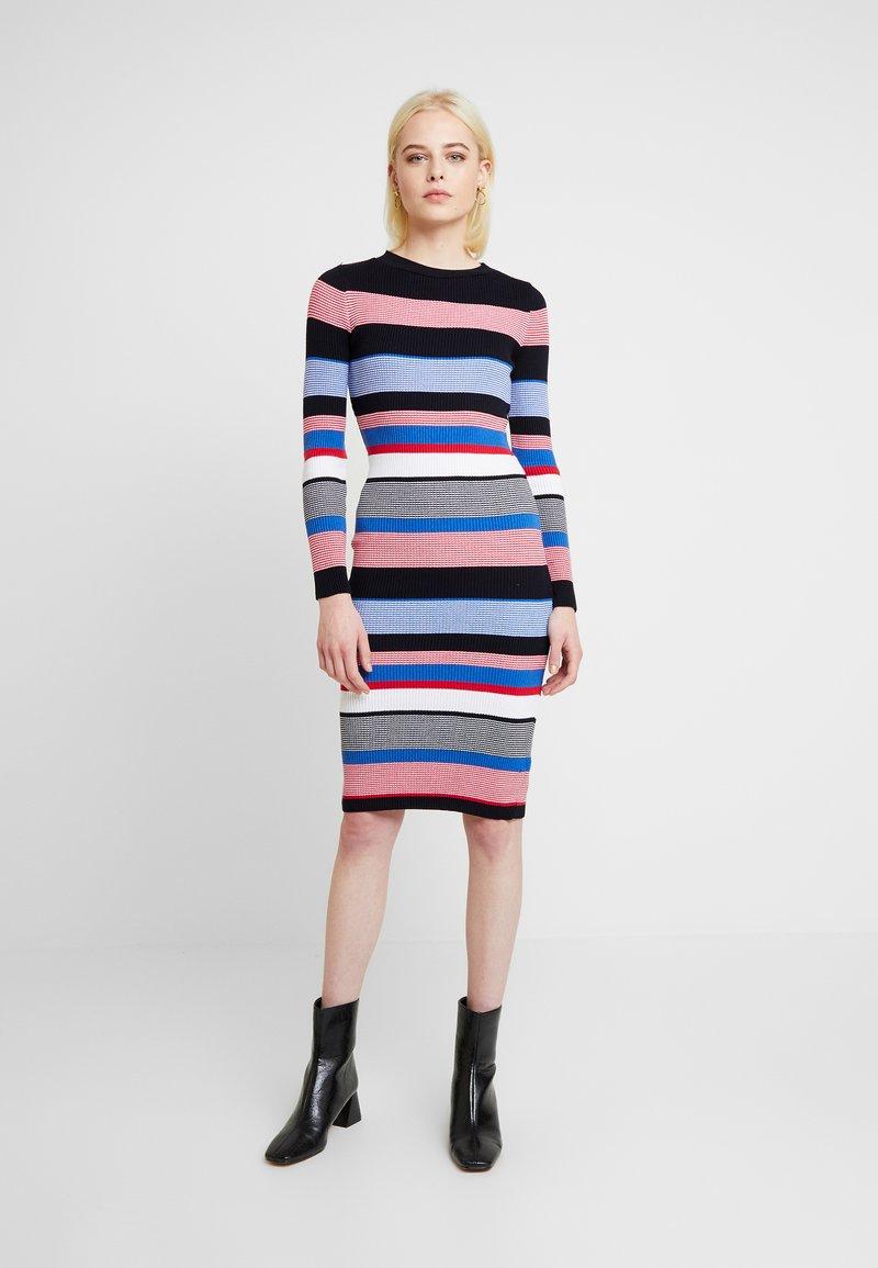 Dorothy Perkins - STRIPE DRESS - Stickad klänning - multi
