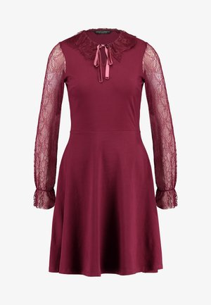 COLLAR DRESS - Jerseykjoler - red