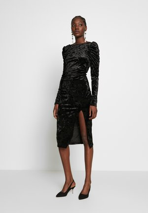 LOLA SKYE PUFF SLEEVE MIDI - Cocktail dress / Party dress - black
