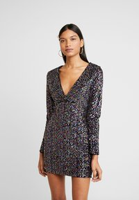 Dorothy Perkins - LOLA SKYE PLUNGE SEQUIN BODYCON - Vestido de cóctel - multi coloured - 0