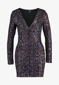 Dorothy Perkins - LOLA SKYE PLUNGE SEQUIN BODYCON - Vestido de cóctel - multi coloured - 4