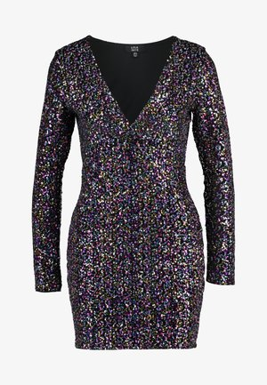 LOLA SKYE PLUNGE SEQUIN BODYCON - Juhlamekko - multi coloured