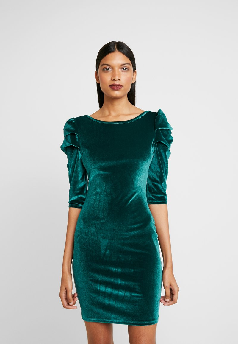 Dorothy Perkins - PUFF SLEEVE BODYCON - Pouzdrové šaty - green