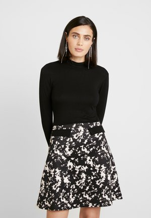 SHADOW FLORAL DRESS - Tubino - black