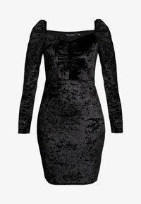 Dorothy Perkins - CRUSHED DRESS - Vardagsklänning - black - 4
