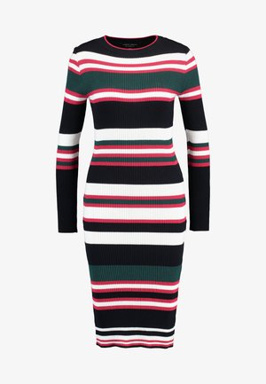 STRIPE DRESS - Sukienka dzianinowa - navy