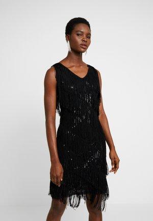 ASYMMETRIC SEQUIN DRESS - Cocktailklänning - black
