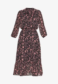 Dorothy Perkins - SHADOW FLORAL PUSSYBOW FRILL HEM DRESS - Kjole - black - 4