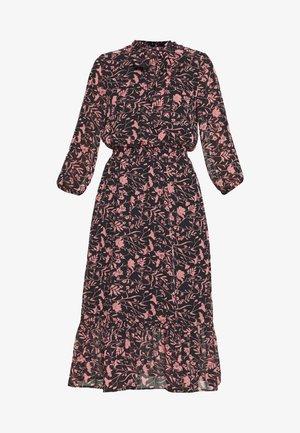 SHADOW FLORAL PUSSYBOW FRILL HEM DRESS - Robe d'été - black