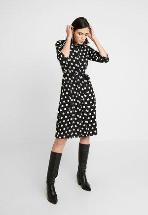 SPOT SLEEVE DRESS - Blusenkleid - black