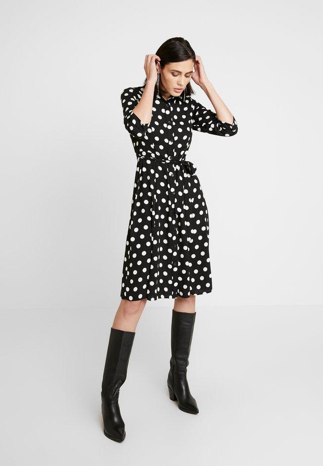 SPOT SLEEVE DRESS - Shirt dress - black
