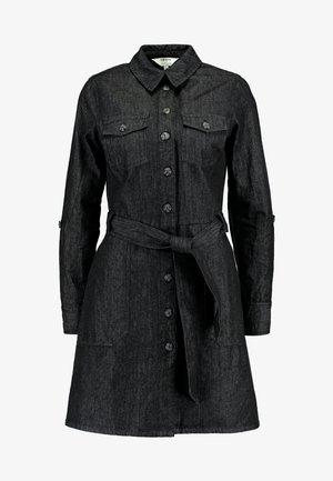 LONG SLEEVE SAFARI DRESS - Vestito di maglina - black