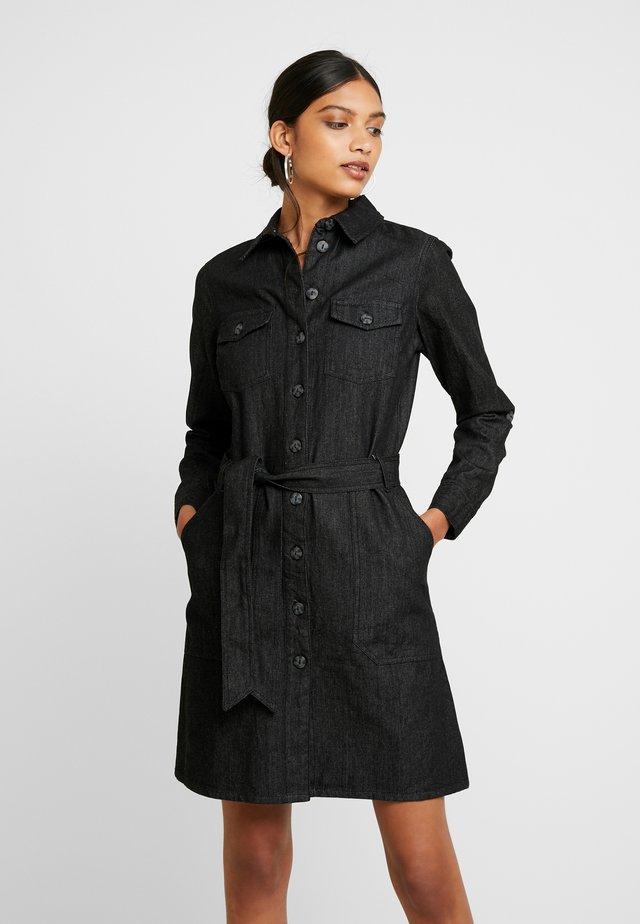 LONG SLEEVE SAFARI DRESS - Jerseyjurk - black