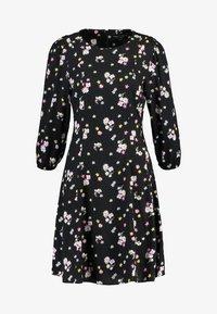 Dorothy Perkins - DITSY THREE QUARTER SLEEVE FIT & FLARE - Korte jurk - black - 4