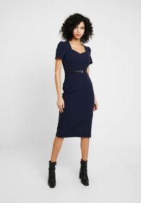 Dorothy Perkins - SWEETHEART DRESS - Shift dress - navy blue - 0