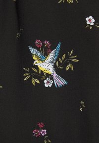 Dorothy Perkins - BIRD PRINT FRILL HEM DRESS - Vapaa-ajan mekko - black - 7