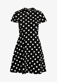 Dorothy Perkins - LARGE SPOT COLLARED DRESS - Freizeitkleid - black - 6