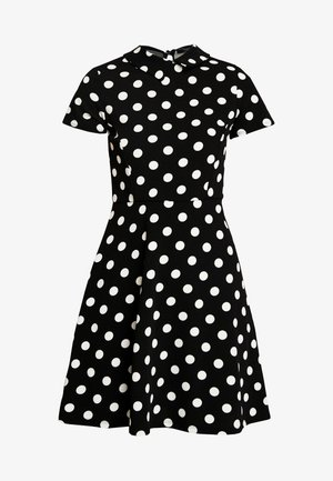 LARGE SPOT COLLARED DRESS - Sukienka letnia - black