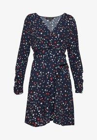 Dorothy Perkins - ABSTRACT RUFFLE WRAP DRESS - Korte jurk - navy - 3