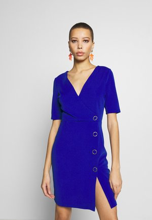 BUTTON DETAIL SHIFT DRESS - Etuikjole - cobalt