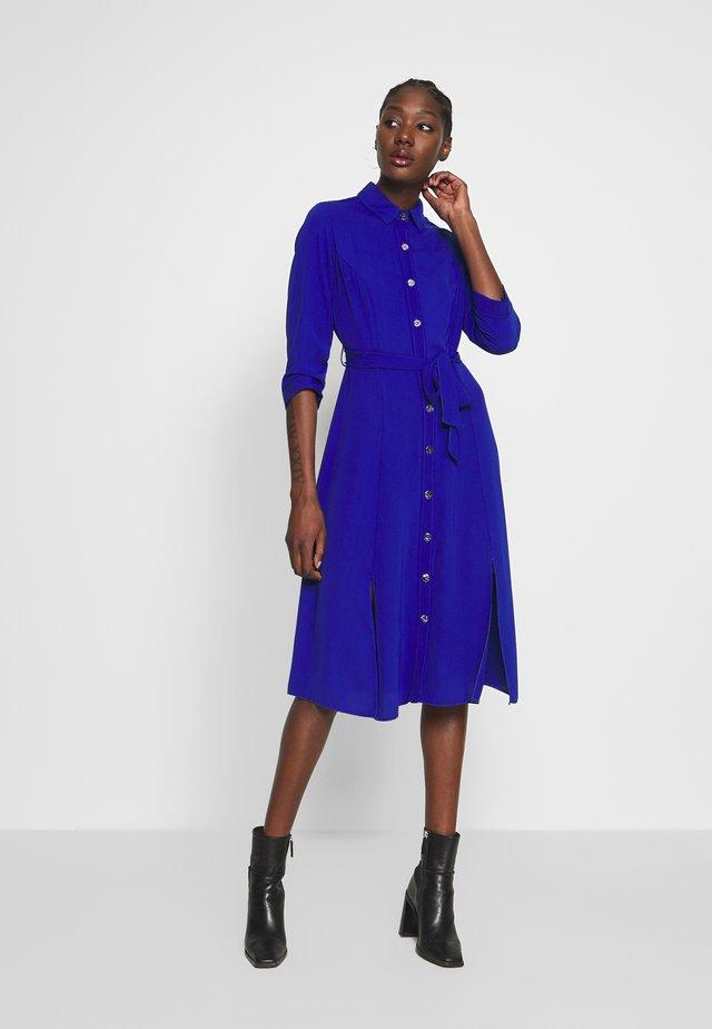 PLAIN SLEEVE DRESS - Shirt dress - cobalt