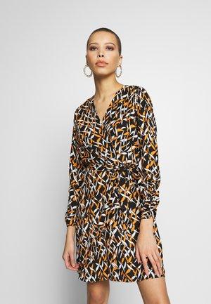 GEO RIBBON RUFFLE WRAP DRESS - Korte jurk - multi coloured